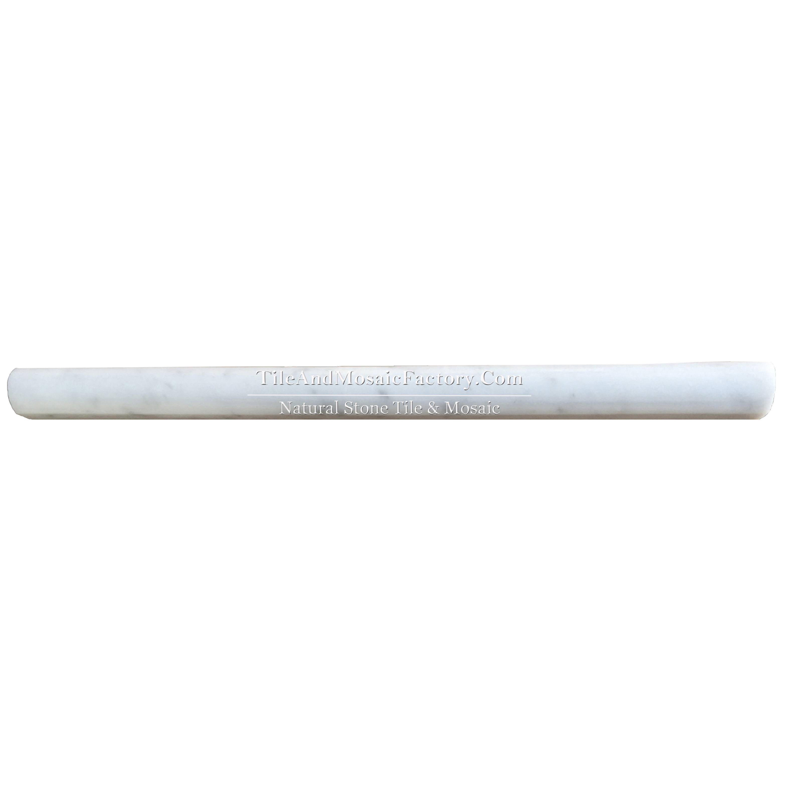 Bianco Carrara C  Cane 1x12 Molding polished White color Marble Border