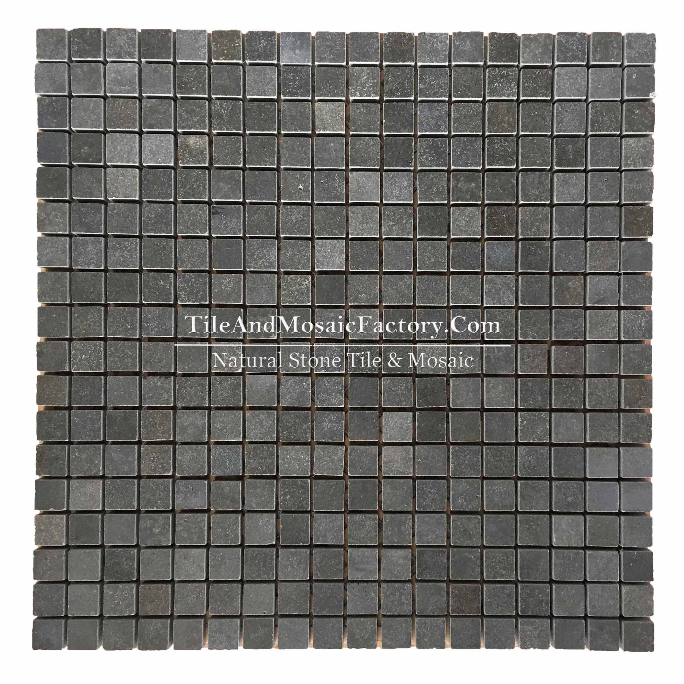"Basalt  Square 5/8x5/8"" polished Black color Marble Mosaic"