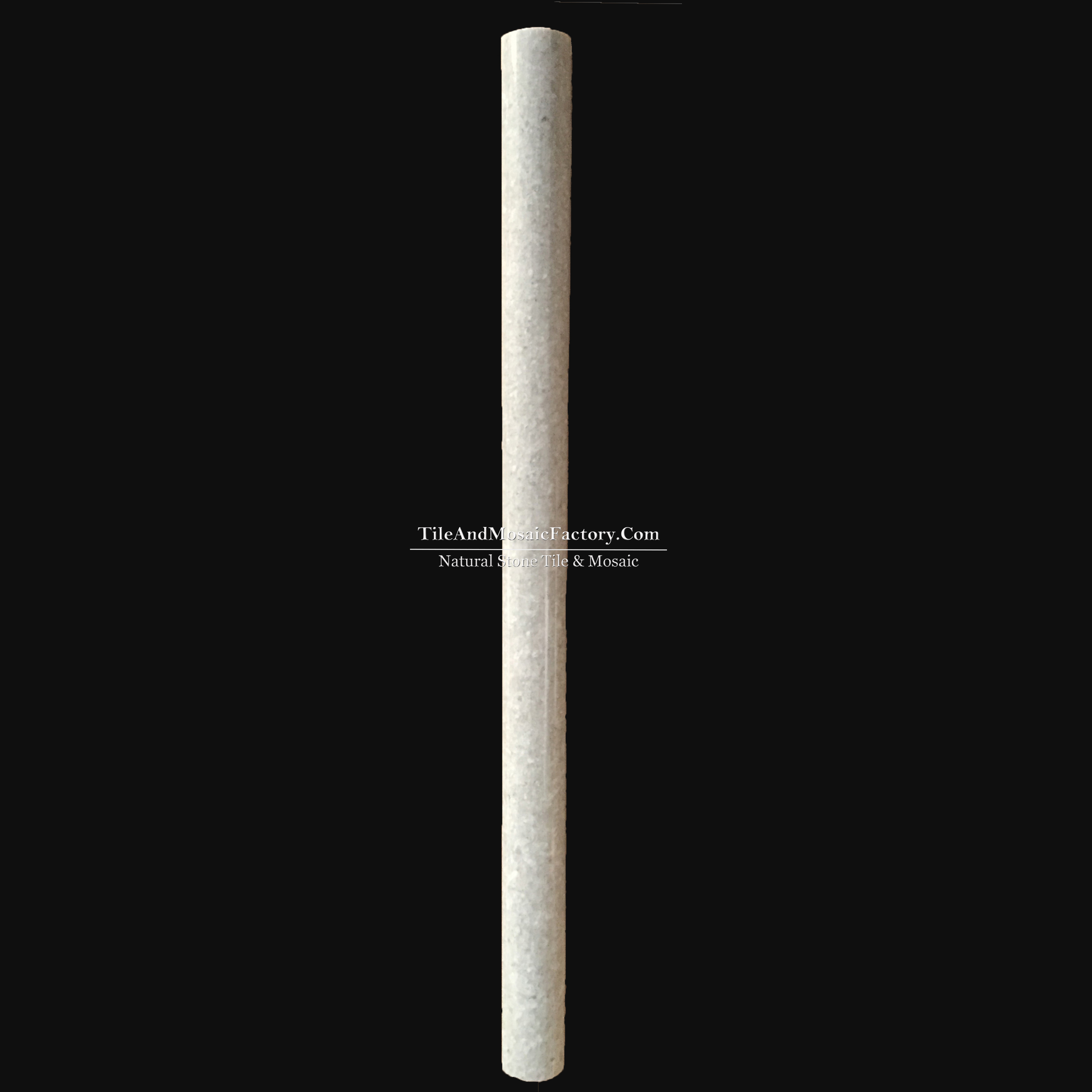 Starlight  Cane 1x12 Molding polished Grey color Limestone Border