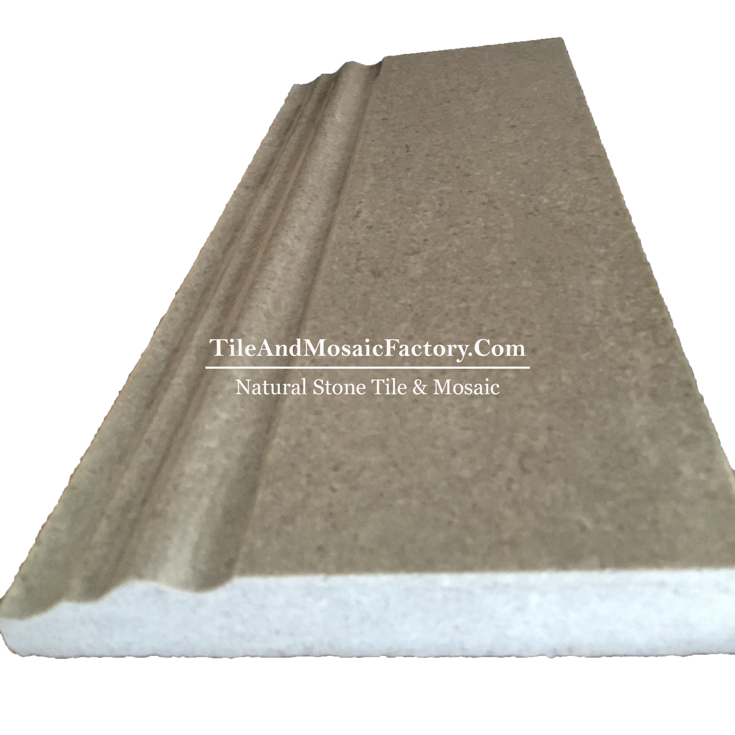 Starlight  Base Board 5x12 polished Grey color Limestone Border