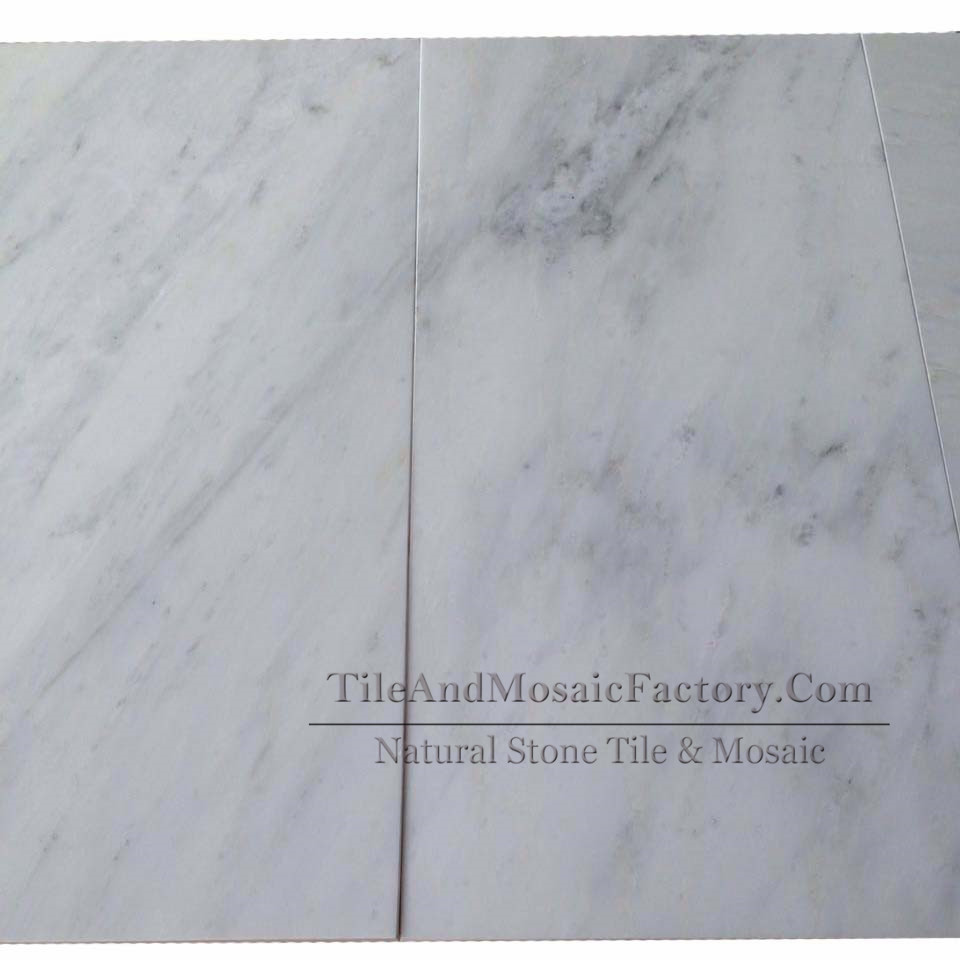 Asian White 12x24″ Polished Marble Tile