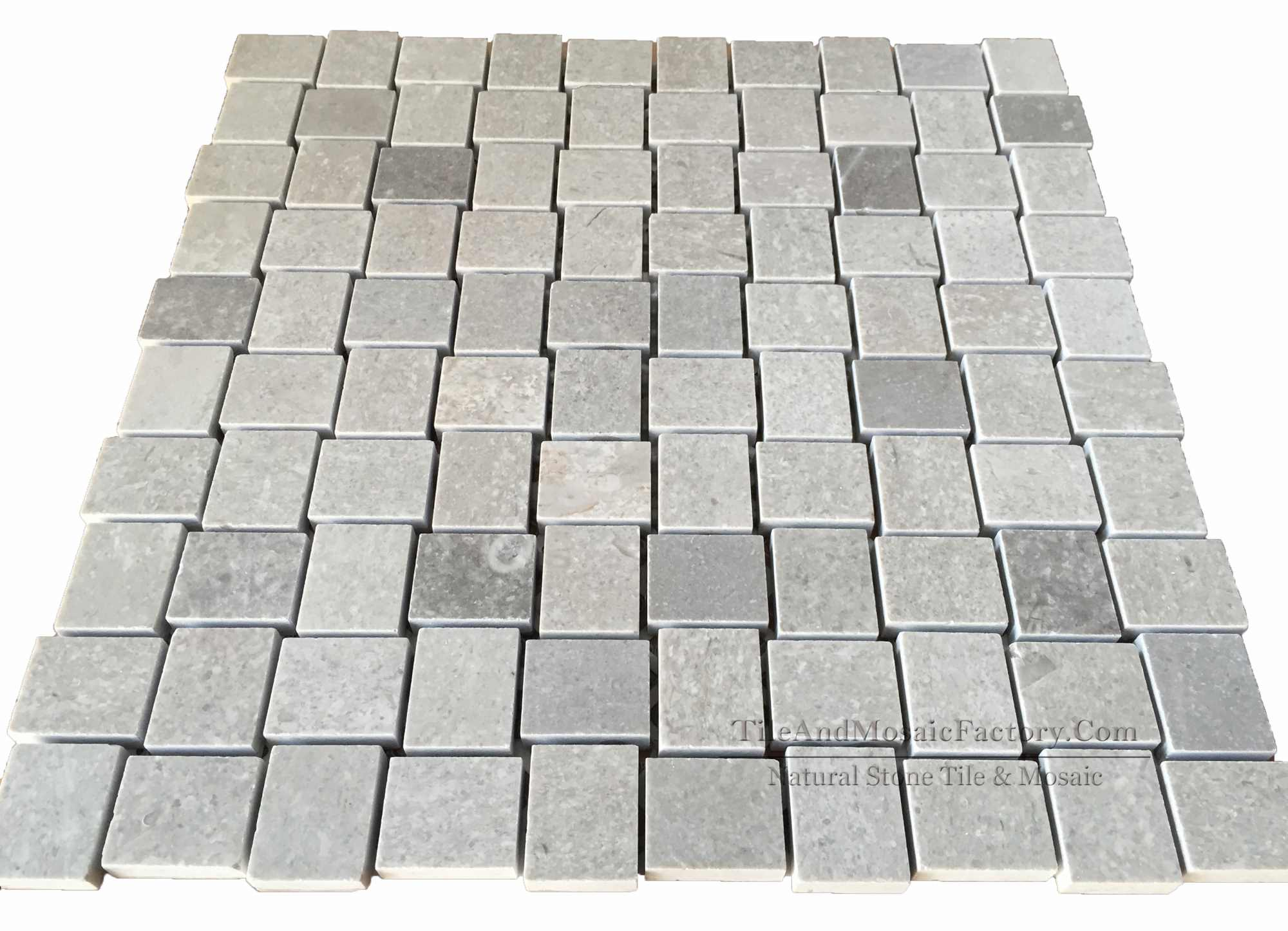 Starlight Stagger 2.6 x 3.2 cm Polished Grey Limestone Mosaic