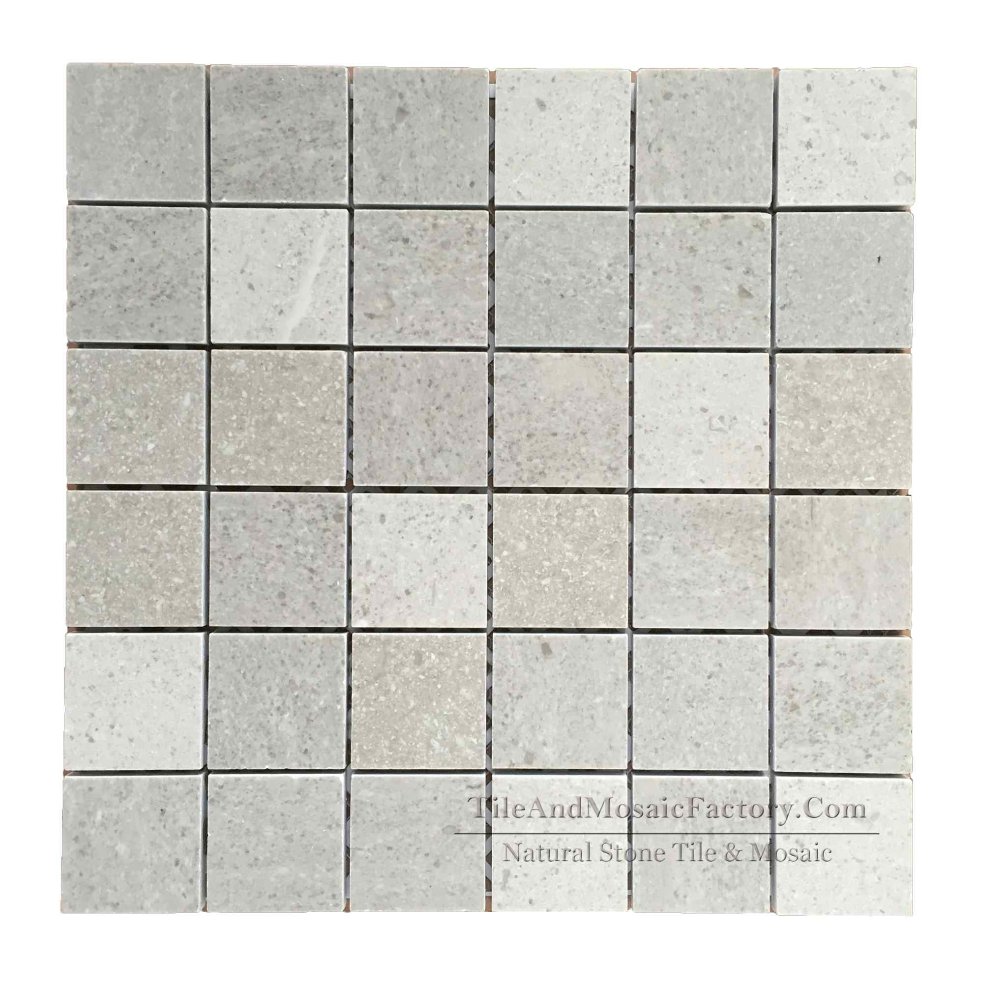 Starlight Square 2x2″ Polished Grey Limestone Mosaic