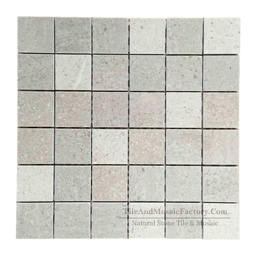 IStarlight Square Polished Grey Limestone Mosaic 2x2″