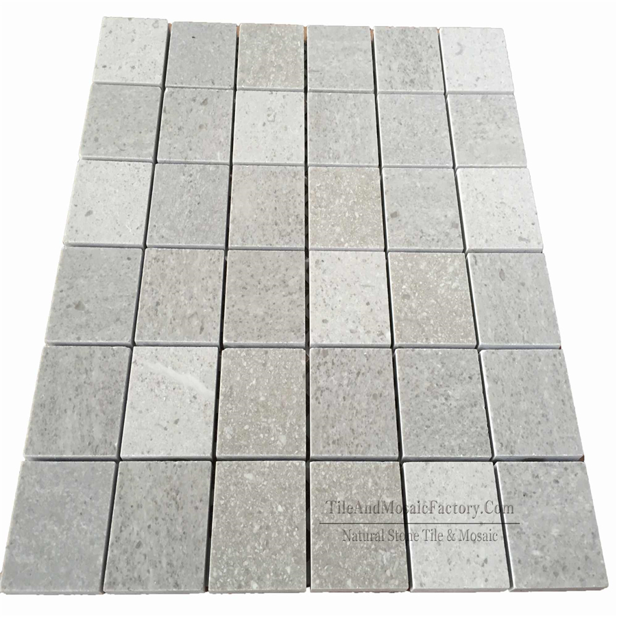 Starlight Square Polished Grey Limestone Mosaic 2x2″