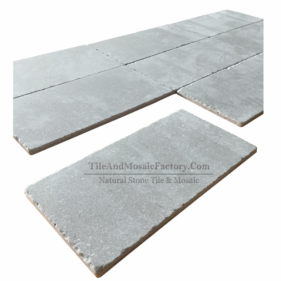 Starlight Tumbled Antique Grey Limestone Tile 249x500mm