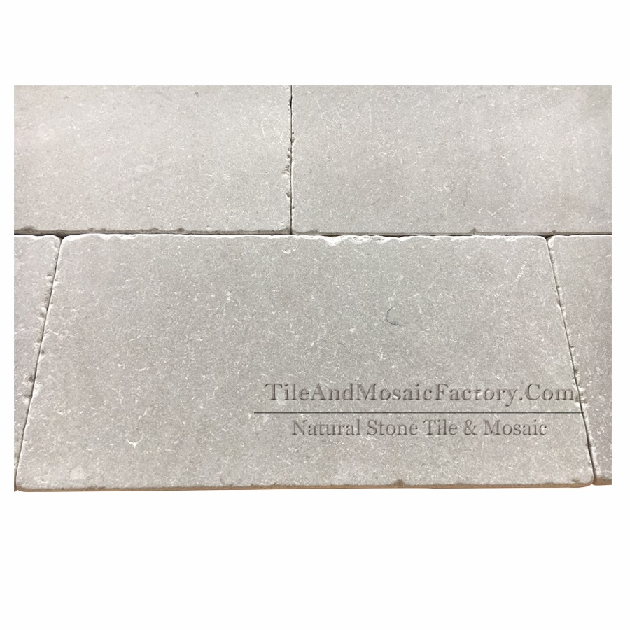 Starlight 249x500mm Tumbled Antique Grey Limestone Tile