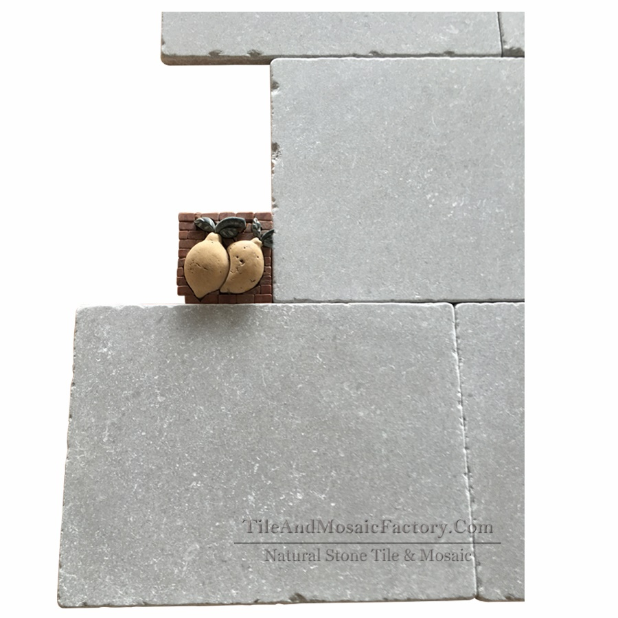 Starlight 300x406mm Tumbled Antique Grey Limestone Tile