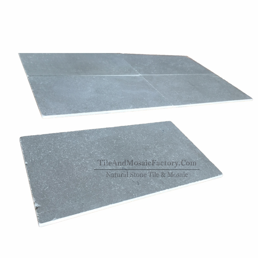 Starlight 406x750mm Tumbled Antique Grey Limestone Tile