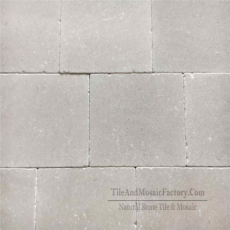 Starlight 610x406mm Tumbled Antique Grey Limestone Tile