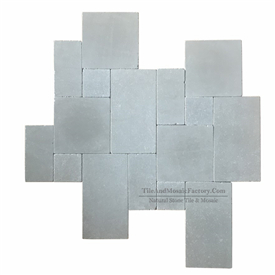 Starlight Versailles Pattern Tumbled Antique Grey Limestone Model 1