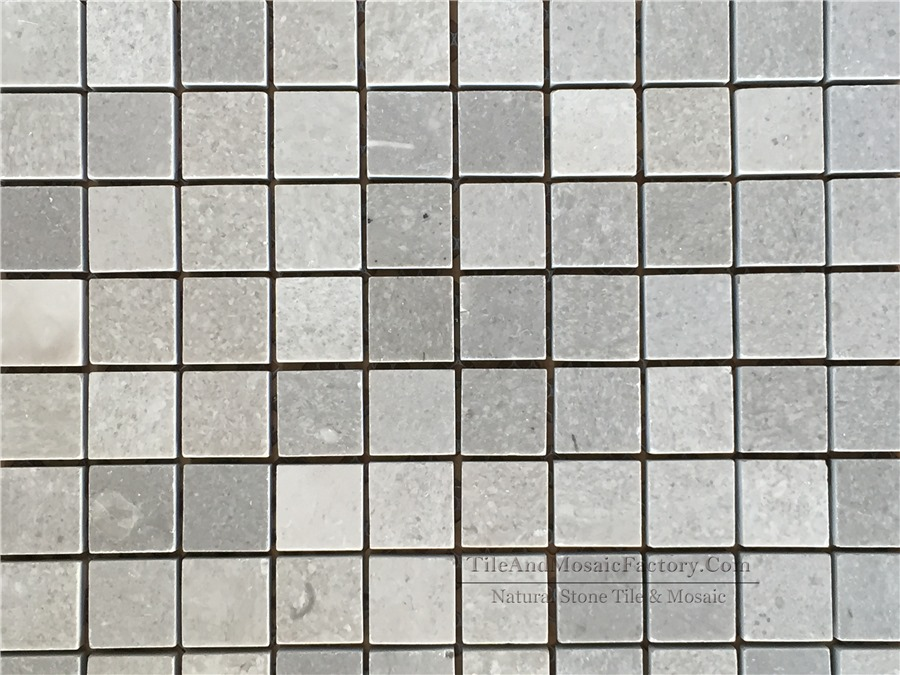 Starlight Square 1x1″ Polished Grey Limestone Mosaic